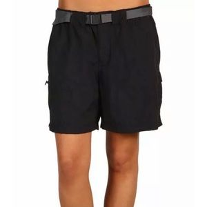 Columbia Womens Sandy River Cargo Black Shorts